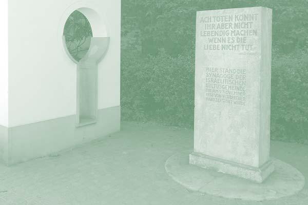 Gedenkstele Synagoge Aschaffenburg